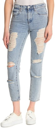 Blank NYC High Rise Distressed Tapered Skinny Jeans