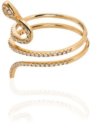 Rosa de la Cruz 18kt Gold Diamond Snake Ring