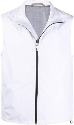 Canali zip-up lightweight gilet