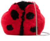 Dolce & Gabbana ladybird shoulder bag - kids - Calf Leather/Rabbit Felt - One Size