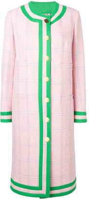 Thom Browne Pink Tweed Cardigan Overcoat