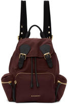 Burberry Burgundy Medium Nylon Rucksack