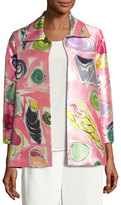 Caroline Rose Beachy Keen Printed Lady Jacket, Plus Size