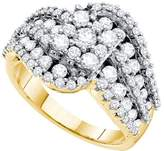 Jawa Fashion 2 Total Carat Weight DIAMOND FLOWER RING