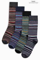 Next Signature Stripe Socks Four Pack