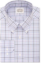Eagle Men's Non-Iron Classic-Fit Stretch Collar Lilac Check Dress Shirt