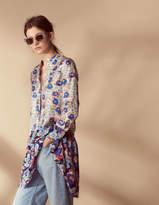 100% Silk All-Over Print Dress