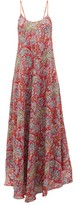 Etro Paisley-print Crepe Maxi Dress - Womens - Red Multi