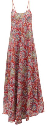 Etro Paisley-print Crepe Maxi Dress - Womens - Red Multi