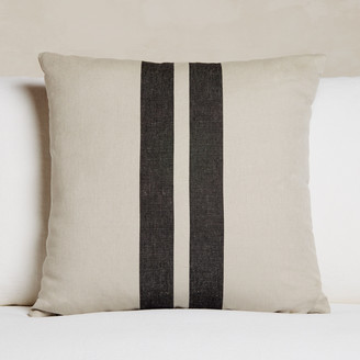 James Perse Patio Striped Linen Euro Pillow - 26 X 26