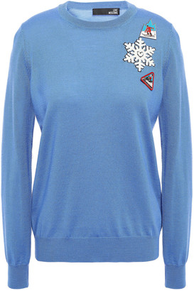 Love Moschino Appliqued Wool Sweater