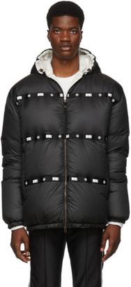 Mr & Mrs Italy Black Satin Puffer Jacket