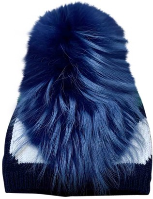Fendi Blue Wool Hats