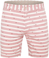 Oxford Henry Striped Shorts Red X