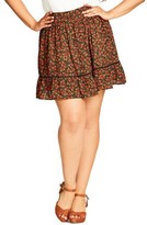 City Chic Plus Size Women's Free Love Minskirt
