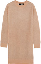 Love Moschino Metallic open-knit mini dress