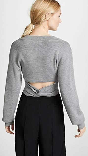 alexanderwang.t Twist Back Cropped Sweater