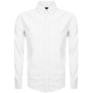 Boss Casual BOSS Long Sleeved Mabsoot Shirt White