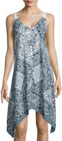 Trixxi Sleeveless Lattice-Back Dress