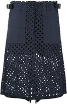 Sacai laser cut skirt - women - Cotton/Cupro - 3