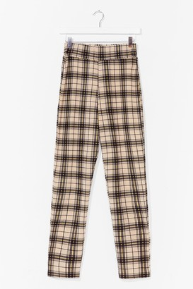 Nasty Gal Womens Check This Out High-Waisted Pants - Stone