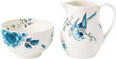 Wedgwood Blue Bird Sugar Bowl & Creamer Set
