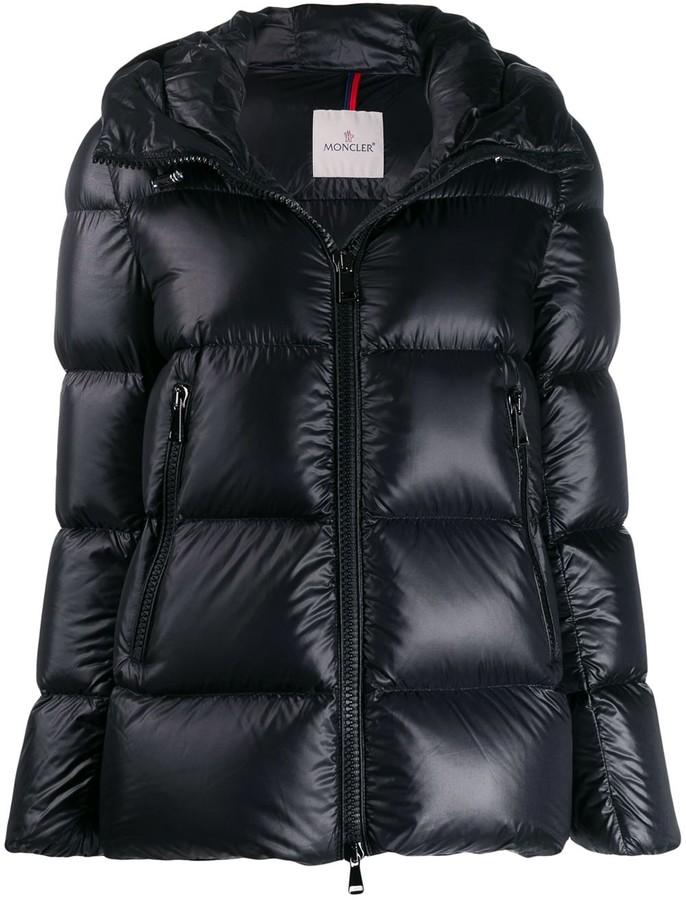 221d3aa52 zipped short puffer jacket