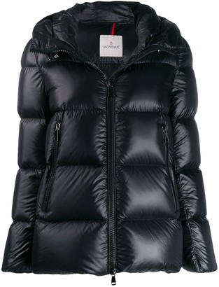 Moncler zipped short puffer jacket