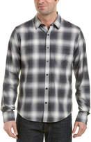 Vince Shadow Plaid Woven Shirt