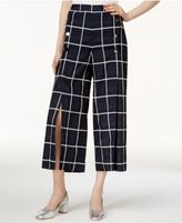 J.o.a. Cropped Plaid Pants