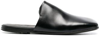 Marsèll Squared-Toe Flat Leather Mules