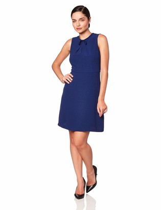 Lark & Ro Amazon Brand Women's Sleeveless Fit and Flare Dress with Bow Detail