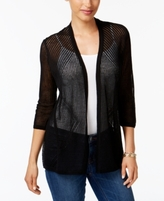 Charter Club Petite Pointelle Open-Front Cardigan, Created for Macy's