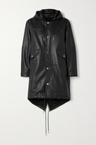 Thumbnail for your product : Deadwood + Net Sustain Payne Hooded Leather Parka - Black
