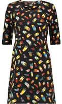 Love Moschino Printed Cotton-Blend Jersey Dress