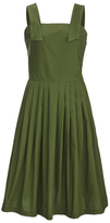 MAISON KITSUNÉ Women's Iris Open Back Long Dress Khaki