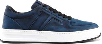 Tod's T Low Top Suede Sneakers
