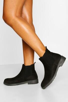 boohoo Pull On Chelsea Boots