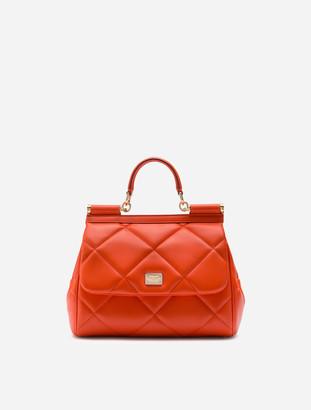 Dolce & Gabbana Medium Sicily Bag In Aria Matelasse Calfskin