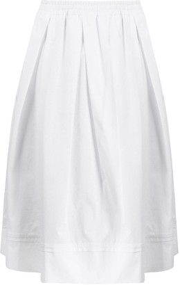 Fay pleated A-line skirt