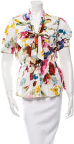 Dolce & Gabbana Floral Print Button-Up Top