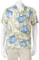 Caribbean Joe Men's Casual Tropical Button-Down Shirt