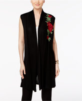 Joseph A Floral-Embroidered Maxi Sweater Vest