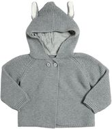Stella McCartney Hood W/ Ears Cotton & Cashmere Cardigan