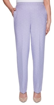 Alfred Dunner Petite Nantucket Proportioned Pull-On Pants, Short