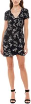 Thumbnail for your product : Ultra Flirt Juniors' Printed Faux-Wrap Bodycon Dress