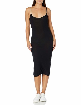 Majestic Filatures Women's Viscose/Elastane Ribbed Cami Dress Noir 2