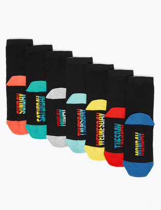 Marks and Spencer 7pk Cotton with Lycra Days of the Week Socks