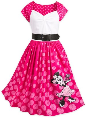 Disney Minnie Mouse Pink Polka Dot Dress for Women