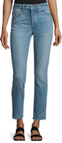 Helmut Lang High-Rise Cropped Denim Jeans, Light Blue